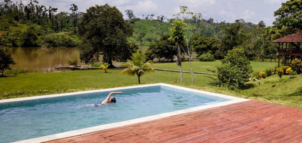 Swimming pool at an eco-lodge